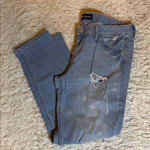 Express Light Wash Destroyed Boyfriend Jeans